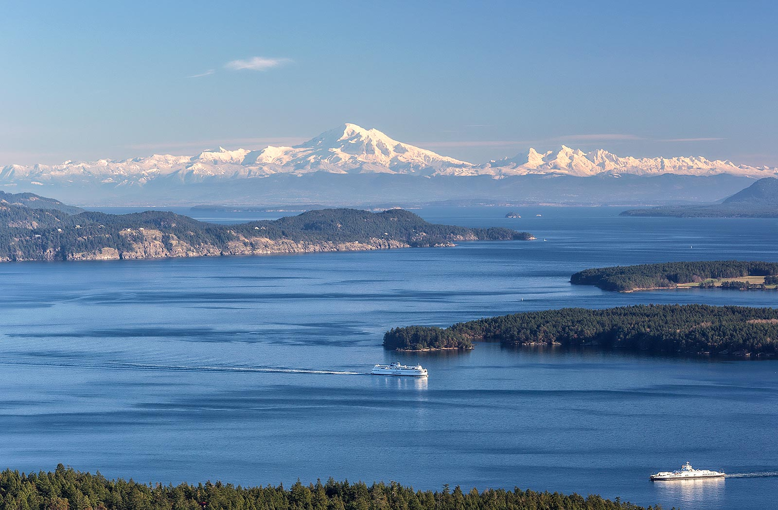 A Gulf Island view from Mount Tuam on south Salt Spring Island