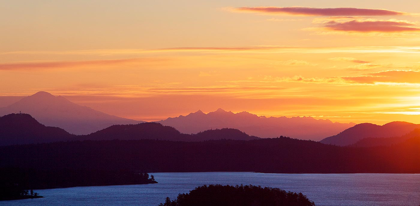 Winter Dawn in the Gulf Islands.