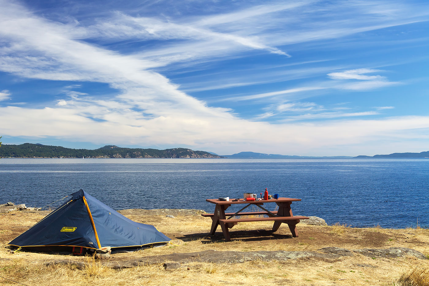 Camping in the Gulf Islands